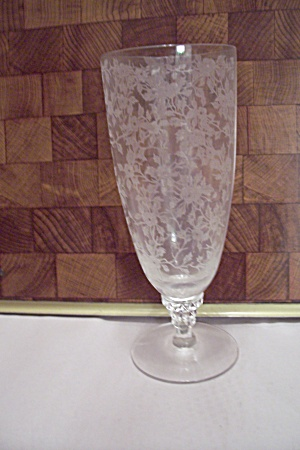 Large Crystal Glass Etched Stemware Champagne Glass