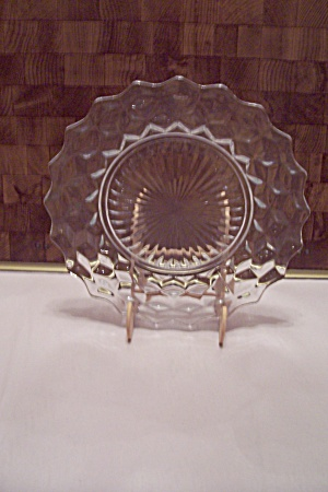 Fostoria American Pattern Crystal Glass Dinner Plate