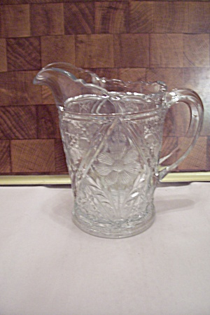 Fostoria Daisy Pattern Crystal Glass Pitcher