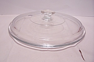 "Crystal Glass 8"" Casserole Lid"