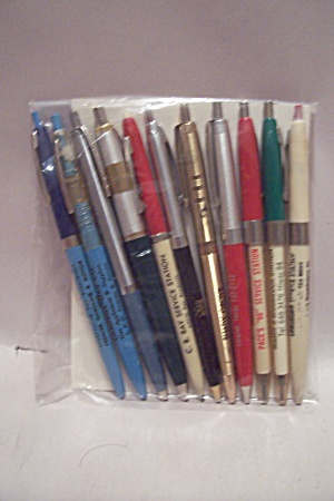 Set Of 11 Gas Company Advertising Ballpoint Pens