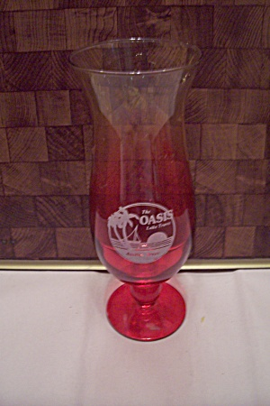 The Oasis Advertising Pedestal Crystal Beer Glass