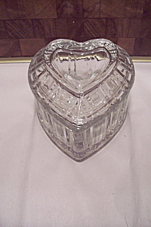 Crystal Glass Heart Shaped Candy Dish