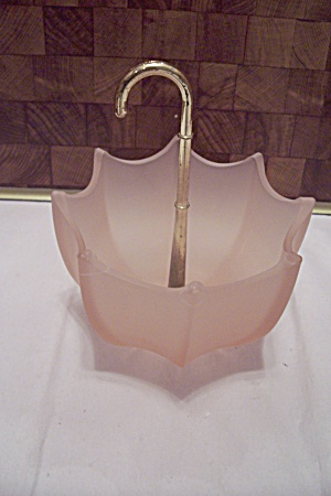 Pink Glass Umbrella Dish