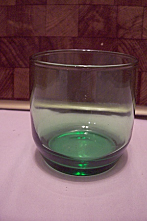 Green Glass High Ball Bar Glass