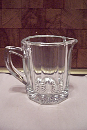 Crystal Glass 10-sided Small Pitcher