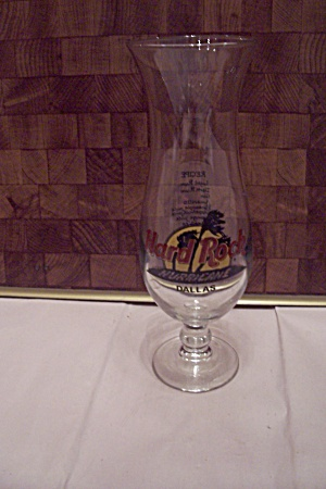 Hard Rock Hurricane, Dallas Tall Crystal Drink Glass