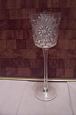 Tall Crystal & Rhinestone Wine Glass