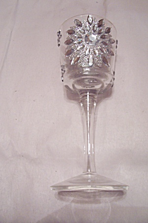 Crystal & Rhinestone Wine Glass