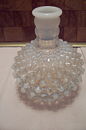 Moonstone Hobnail Glass Bottle
