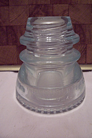 Hemingray #42 Clear But Green Tinted Glass Insulator
