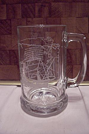 "Crystal Glass ""pinta"" Sailing Ship Beer Mug"