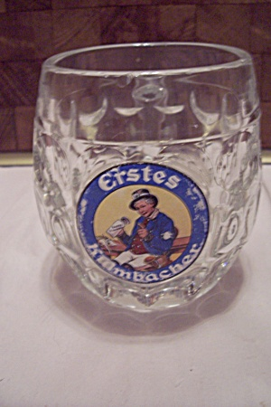 German Crystal Glass Erstes Kumbacher Beer Mug