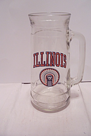 Illinois Souvenir Crystal Glass Beer Mug