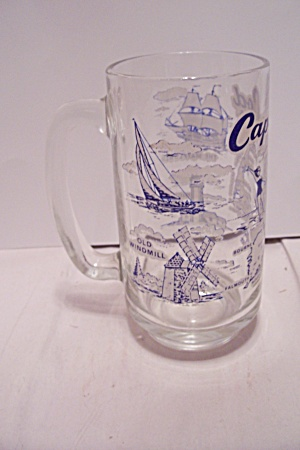 Cape Cod, Ma Souvenir Crystal Glass Beer Mug
