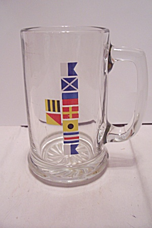 European Flag Crystal Glass Beer Mug