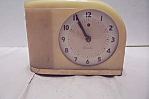 Westclox Art Deco Celluloid Electric Alarm Clock