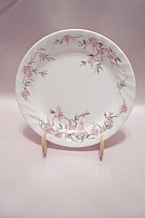 Correlle Flower Decorated Glass Salad Plate