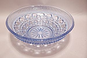 Light Blue Pattern Glass Bowl