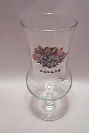 Rainforest Cafe Dallas Crystal Pedestal Drink Glass