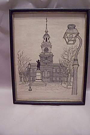 Independence Hall Framed Drawing Print By E. F. Sanzari