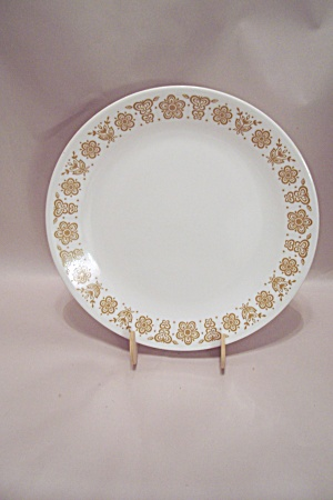 Corning Corelle Brown Trimmed Glass Dinner Plate