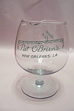 Pat O'brien's New Orleans, La Crystal Drink Glass