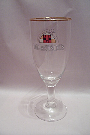 Belgium Maredsous Crystal Beer Glass