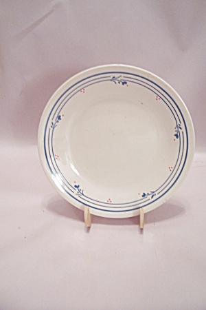 Corning Corelle Blue Line & Pink Dot Plate