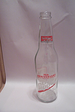 Dr. Pepper 75fth Anniversary Commemorative Glass Bottle