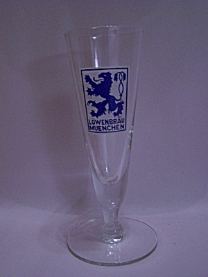 Lowenbrau Muenchen Crystal Beer Glass