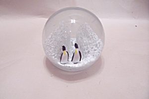 Penguin Glass Paperweight