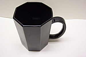 Black Glass 8-sided Mug