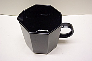 Black Glass 8-sided Creamer