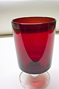 Arcoroc Ruby & Crystal Glass Stemmed Tumbler