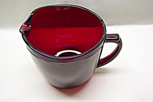 Fire King /anchor Hocking Royal Ruby Creamer