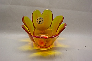 Viking Amberina Art Glass Small Vase/candle Holder