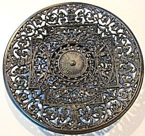 Antique Ornate Charger Cast Iron Buderus