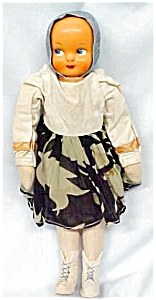 Large Celluloid Doll Poland Ethnic