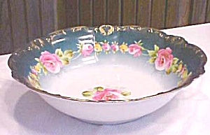 Franconia Porcelain Bowl Roses Hand Painted 10 Inch