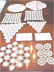 Beautiful Crochet Doilies Scarves 10 Pc