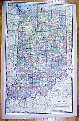 Antique Map Indiana/pennsylvania 1902 Large Crowell