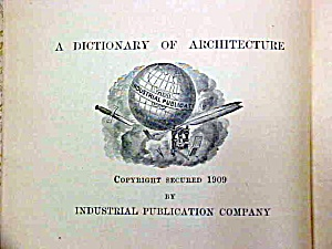 Dictionary Of Terms Used In Architecture Building Rare