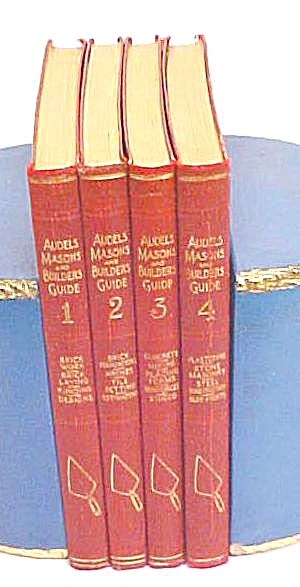 Audels Masons & Builders Guide 4 Vol 1924 1st Ed.