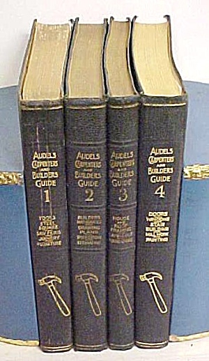 Audels Carpenters & Builders Guide 4 Vol 1948