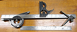 Lufkin 5 Pc. Combination Square Set 12 & 18 Inch Rule