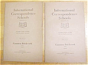 Common Brickwork Booklet Ics 1920