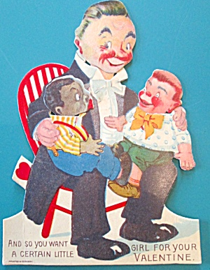 Ventriloquist Valentines Card 1930's Germany