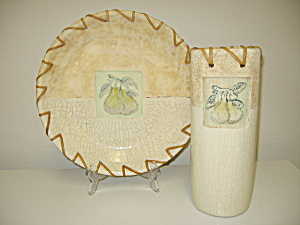 Baum Bros Formalities Southwestern Fruit Bowl & Vase