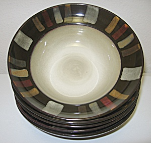 Pfaltzgraff Everyday Tahoe Soup Cereal Bowls Set Of 5